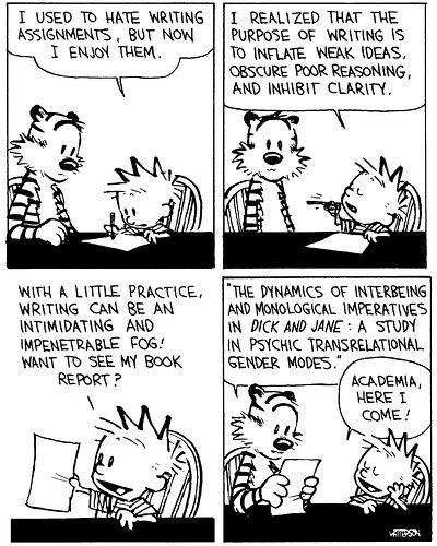 Calvin and Hobbes - Academic Writing